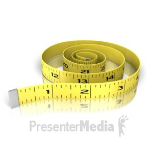 ID# 13640 - Waist Exercise Tape Measure - Presentation Clipart