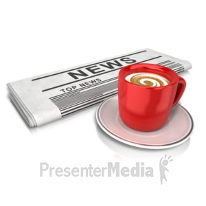 ID# 13653 - Coffee And News - Presentation Clipart