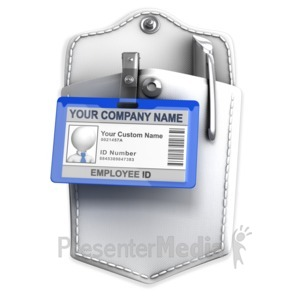 ID# 13655 - Pocket With Badge Custom ID - Presentation Clipart