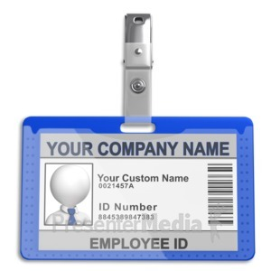 ID# 13677 - Single Id Badge - Presentation Clipart