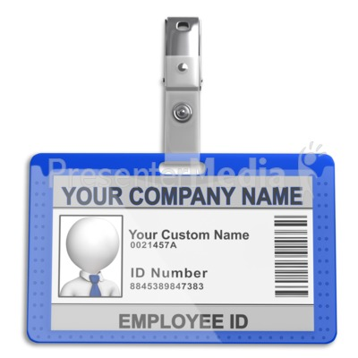 Single Id Badge PowerPoint Clip Art