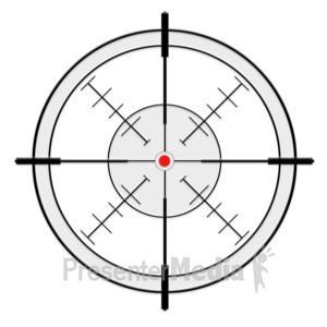 ID# 13691 - Crosshairs - Presentation Clipart