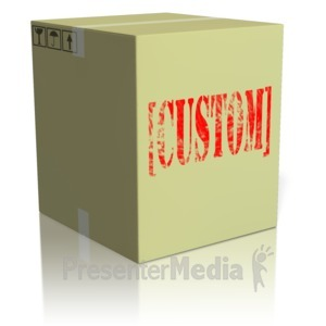 ID# 13742 - Custom Text On Box - Presentation Clipart