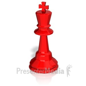 ID# 13745 - King Chess Piece - Presentation Clipart