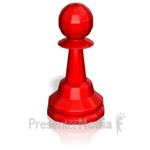ID# 13748 - Pawn Chess Piece - Presentation Clipart