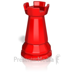 ID# 13750 - Rook Chess Piece - Presentation Clipart