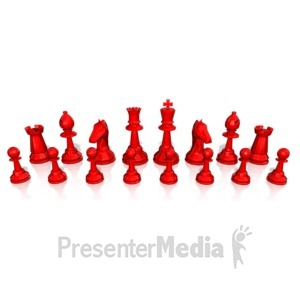 ID# 13756 - Chess Army Pieces - Presentation Clipart