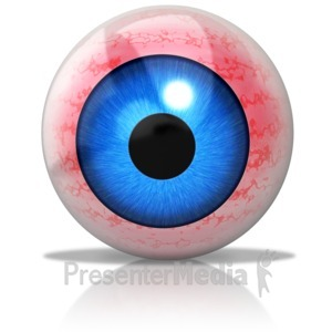 ID# 13759 - Irritated Eyeball - Presentation Clipart