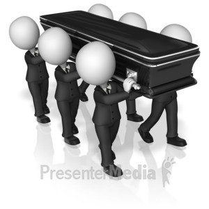 ID# 13761 - Figures Carrying Casket - Presentation Clipart