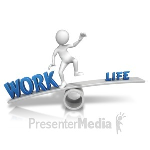 ID# 13771 - Work Taking Over - Presentation Clipart