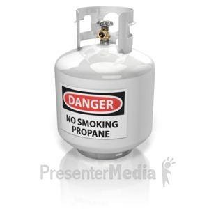 ID# 13778 - Propane Cylinder - Presentation Clipart