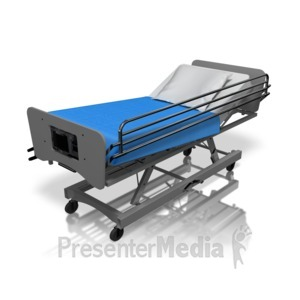 ID# 13791 - Hospital Bed - Presentation Clipart