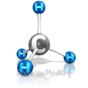 ID# 13835 - Methane Molecule Stucture - Presentation Clipart