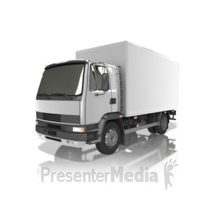 ID# 13836 - Delivery Truck - Presentation Clipart
