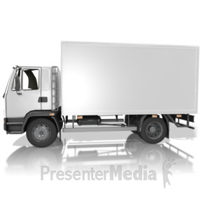 ID# 13838 - Blank Delivery Truck - Presentation Clipart