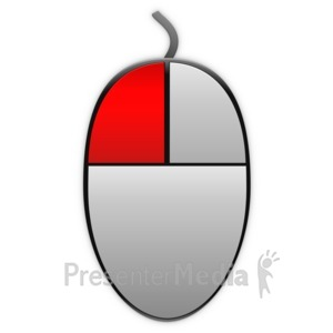 ID# 13865 - Left Mouse Highlight Icon - Presentation Clipart