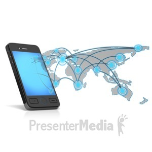 ID# 13908 - Network Phone Map - Presentation Clipart