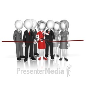 ID# 13931 - Cut The Ribbon Ceremony - Presentation Clipart