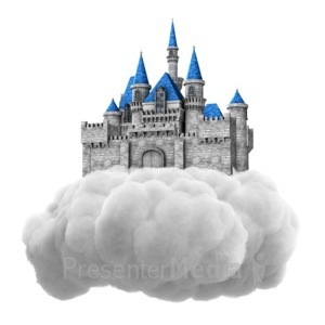 ID# 13933 - Castle In Cloud - Presentation Clipart