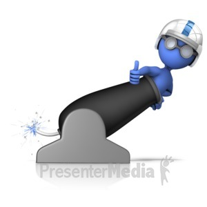 ID# 13993 - Shoot Out Of Cannon - Presentation Clipart