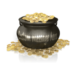 ID# 14015 - Custom Pot Of Gold - Presentation Clipart