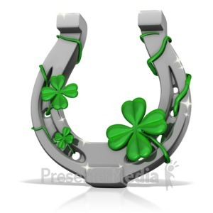 ID# 14018 - Lucky Horseshoe - Presentation Clipart