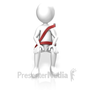 ID# 14023 - Figure Wearing Seat Belt - Presentation Clipart