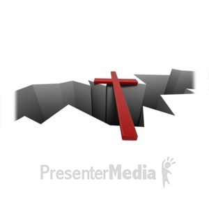 ID# 14039 - Cross Over Crack - Presentation Clipart