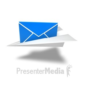 ID# 14045 - Letter Flight Delivery - Presentation Clipart