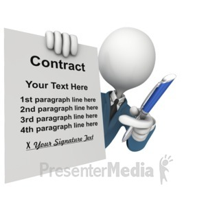 ID# 14053 - Custom Contract Sign - Presentation Clipart