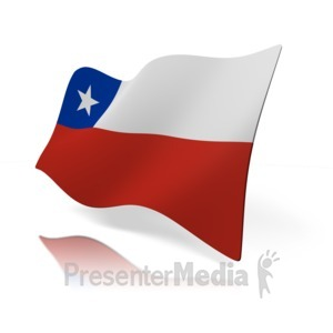 ID# 14095 - Chile Flag - Presentation Clipart