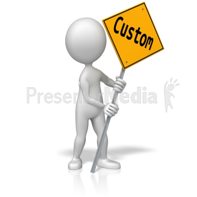 Figure Holding Custom Street Sign PowerPoint Clip Art