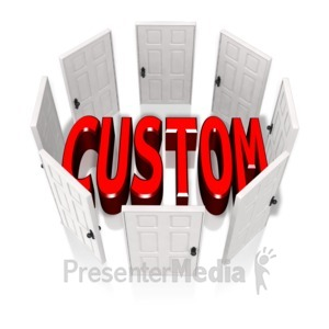 ID# 14109 - Custom Circle Of Doors - Presentation Clipart