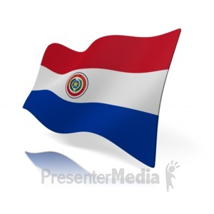 ID# 14112 - Paraguay Flag - Presentation Clipart
