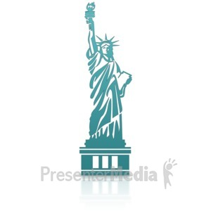 ID# 14127 - Statue Of Liberty - Presentation Clipart