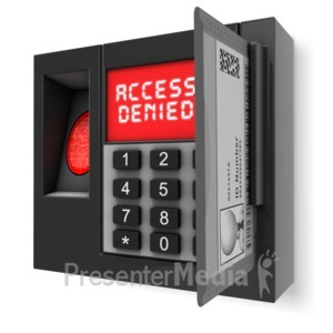 ID# 14180 - Access Denied Security Box - Presentation Clipart