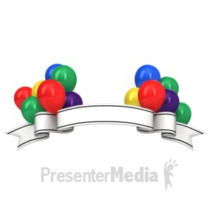 ID# 14201 - Celebration Message Banner - Presentation Clipart