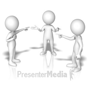 ID# 14224 - Group Blame Game - Presentation Clipart