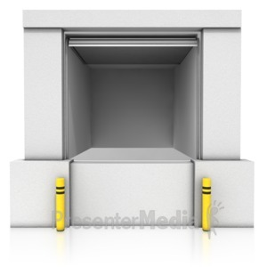 ID# 14238 - Loading Dock Open Bay - Presentation Clipart