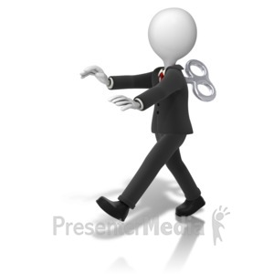 ID# 14273 - Business Figure Toy Walking - Presentation Clipart