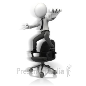 ID# 14279 - Figure Hang Ten On Chair - Presentation Clipart