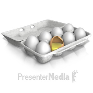 ID# 14280 - Bad Egg of the Bunch - Presentation Clipart