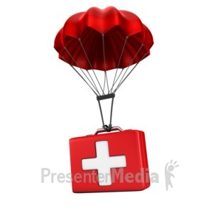 ID# 14287 - Sending Medical Relief - Presentation Clipart