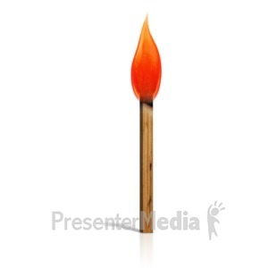 ID# 14300 - Burning Match - Presentation Clipart