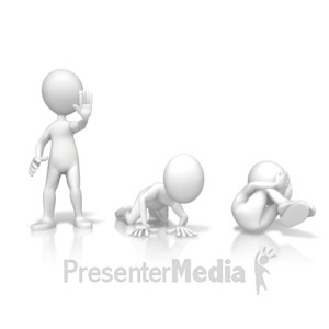 ID# 14353 - Stop Drop Roll - Presentation Clipart