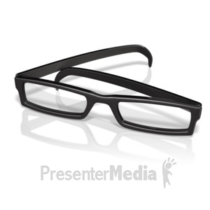 ID# 14372 - Retro Eye Glasses - Presentation Clipart