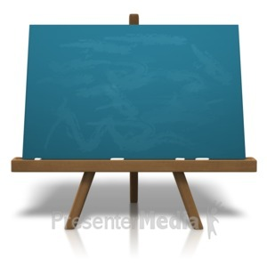 ID# 14378 - Classic Chalkboard Easel - Presentation Clipart