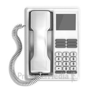 ID# 14381 - Office Telephone - Presentation Clipart