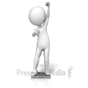ID# 14397 - Figure Success Scale - Presentation Clipart