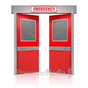 ID# 14401 - Emergency Doors - Presentation Clipart